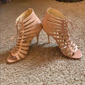 Ivanka Trump pale pink leather sandals
